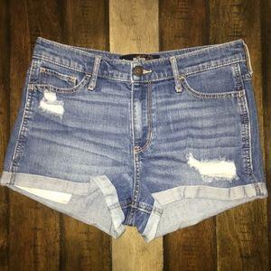 High Waisted Denim Shorts -Size 9 w29- Used